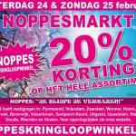 20% korting bij Noppesmarkt op 24 & 25 februari!