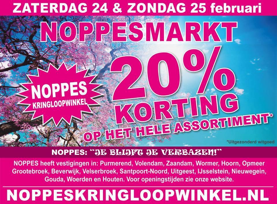 Noppesmarkt op 24 & 25-feb